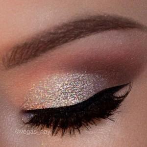 Brushing gold eyeshadow