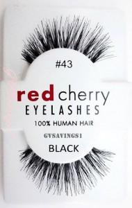red cherry eyelashes 100% human hair #43 black