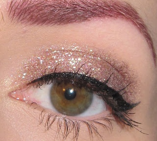Salmon Glitter Eyes with Black Liners