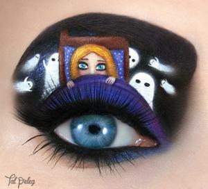 'Childhood Fears' Eye Makeup