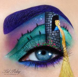 "disney The well known ""Rapunzel"" eye makeup"