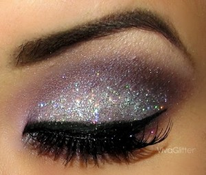 Silver Glitter Eyes for Young Women