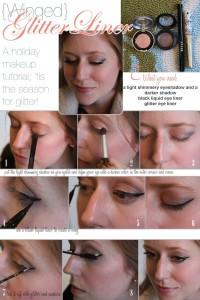 Glittery eyeliner effect
