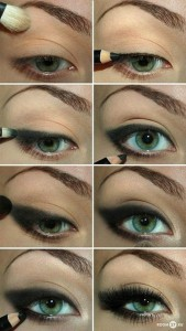 or a nice smokey effect, use powder and pencil.