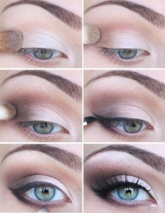 For a much softer look, use and angled brush and eyeshadow.