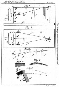 1902 Drawings from Charles Nessler's patent for making false eyelashes and eyebrows.