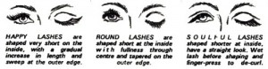 Lash Shapes (Modified from the Australian Women's Weekly, 1968).