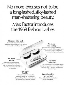 1969 Fashion Lashes by Max Factor.