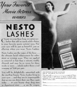 Nestolashes from the Nestlé-Le Mur company set up by Charles Nessler in New York.
