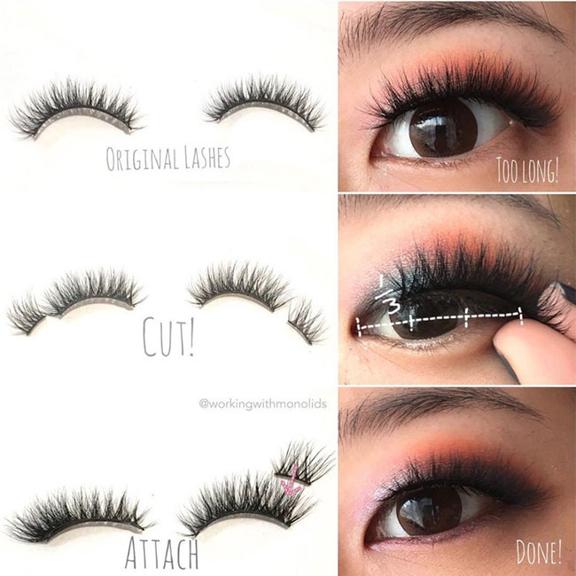 Steps For Lash Hack! Cut and Attach!