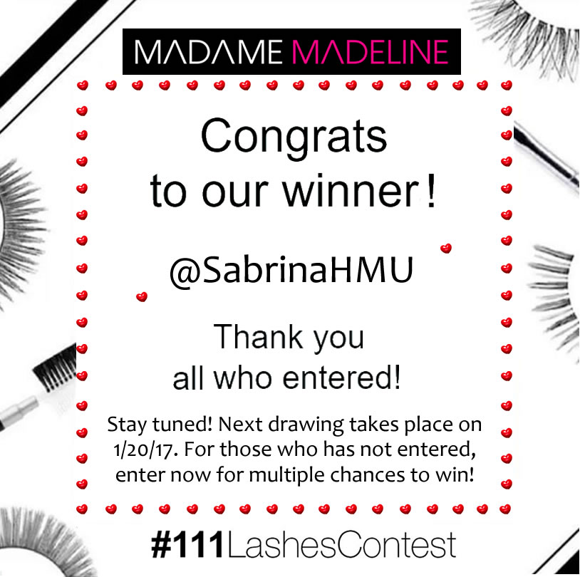 Our third grand false eyelashes contest winner