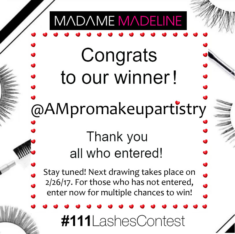 Our fouth grand false eyelashes contest winner