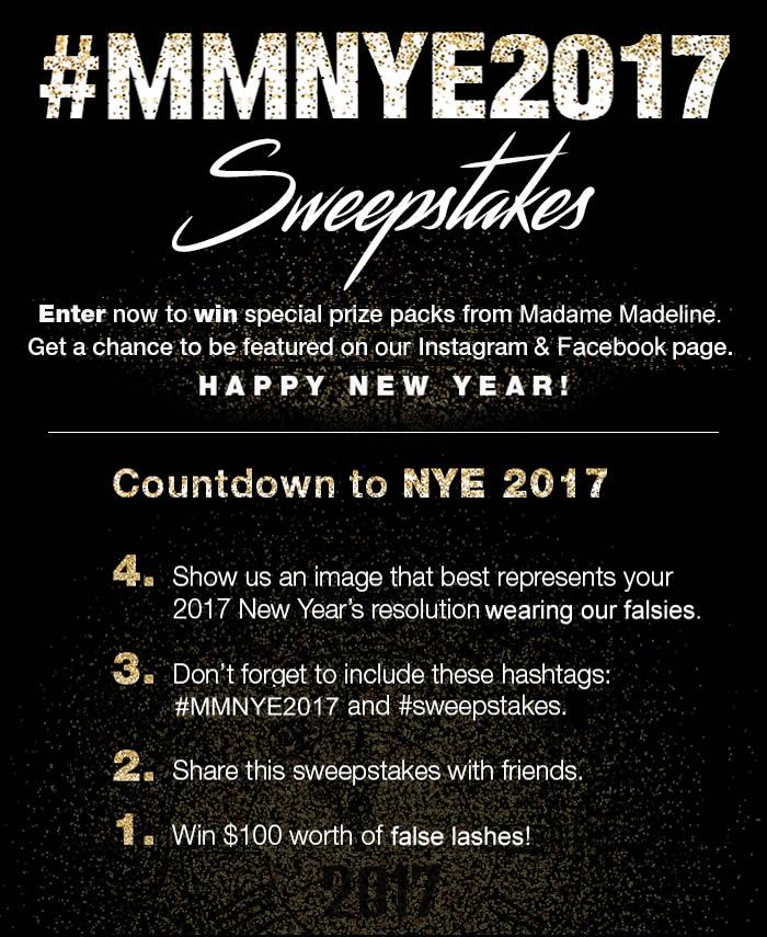 #MMNYE2017 False Eyelashes Sweepstakes
