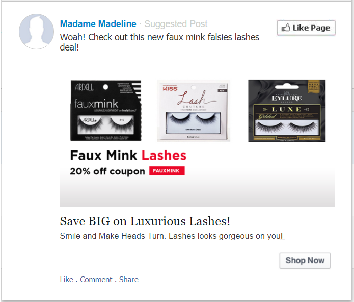 20% off coupon. Use promo code FAUXMINK