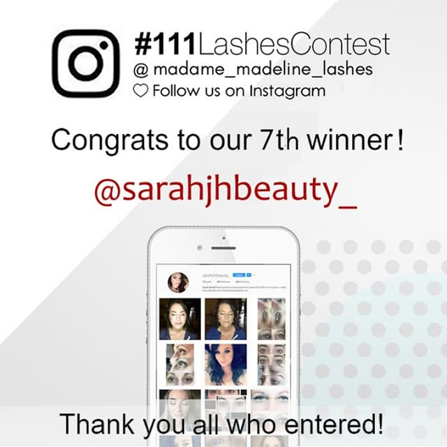 Our 7th grand price #111 false lashes contest giveawaywinner