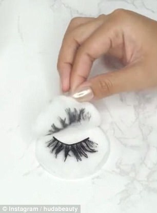 Step 2: Next remove any leftover make-up and residue with a cotton swab.