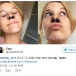 "The trend was started by an instagram user who goes by the name Gret Chen Chen, who posted a photo of herself with ""nose hair extensions"" in place."