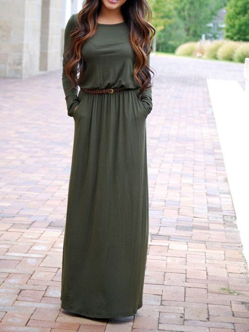 Another perfect dress for church is this maxi long sleeve dress .