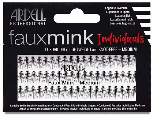 Ardell Faux Mink Individuals - available in short medium and long faux mink clusters.