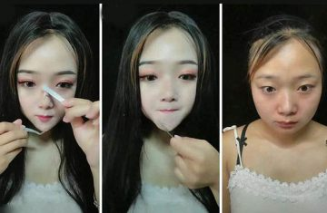 Chinese woman gave herself elf-like features and a pointy chin with incredible make-up, false lashes and sculpting talents