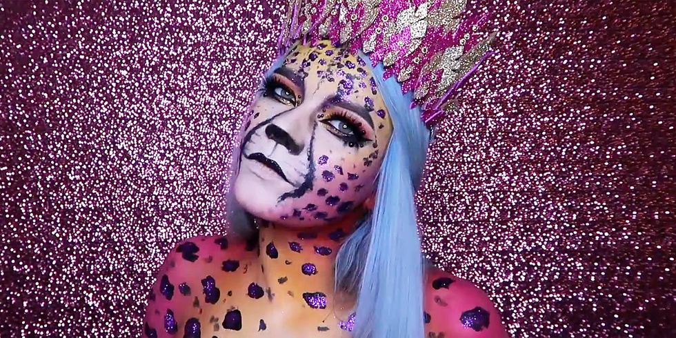 Amazing Cheetah make-up