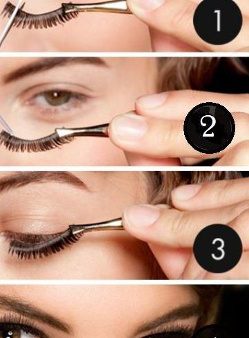 Step by step lash application