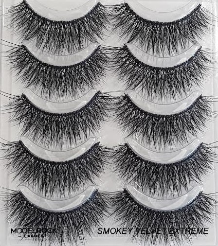 "ModelRock Smokey Velvet ""EXTREME"""" - Double Layered Lashes Multi Pack (5 Pairs)"