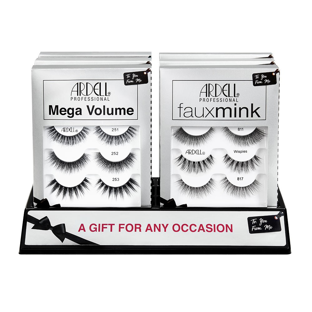 Ardell Mega Volume & Faux Mink 3 Pack 6 Pc Display