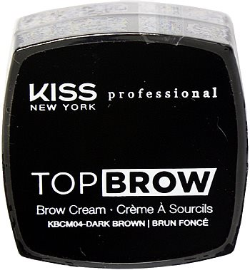 Kiss NY Pro Top Brow Cream  - Dark Brown
