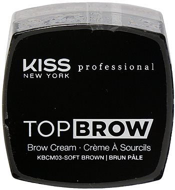 Kiss NY Pro Top Brow Cream  - Soft Brown