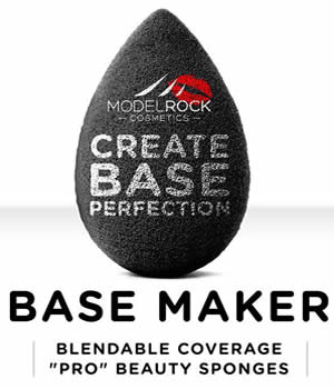 "MODELROCK Base Maker Blendable Coverage ""Pro"" Beauty Sponge 1pk (Black)"