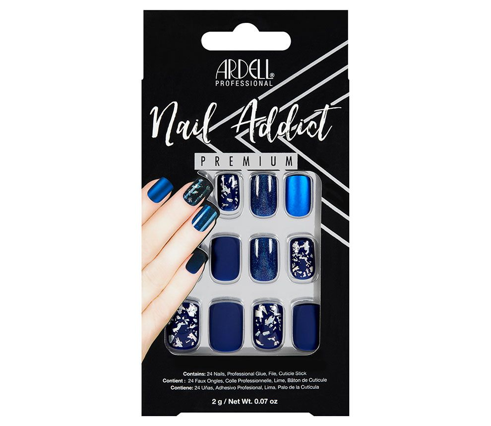 Ardell Nail Addict Premium Artificial Nail Set - Matte Blue