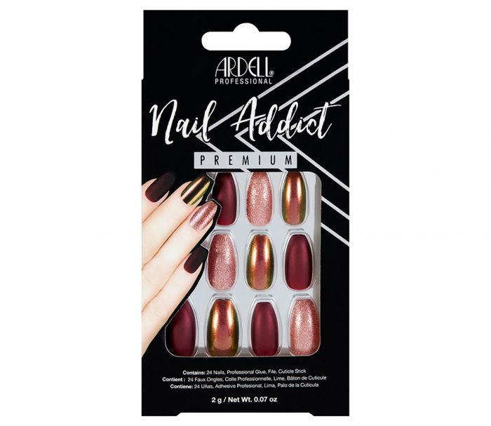 Ardell Nail Addict Premium Artificial Nail Set - Red Cateye