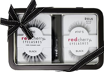 Red Cherry Eyelash Brush Adhesive Gift Set