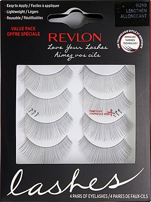 Revlon Love Your Lashes Eyelashes Value Pack White (91290)
