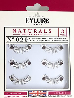 ac6979e369b Eylure Naturalites NATURALS TRIPLE PACK N° 020, Eylure Strip Eyelashes -  Rebrand Packaging - Madame Madeline Lashes