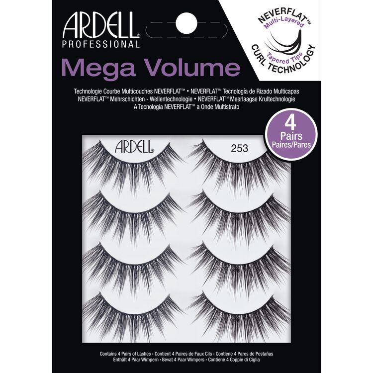 Ardell Professional 4 Pack Mega Volume Lashes #253
