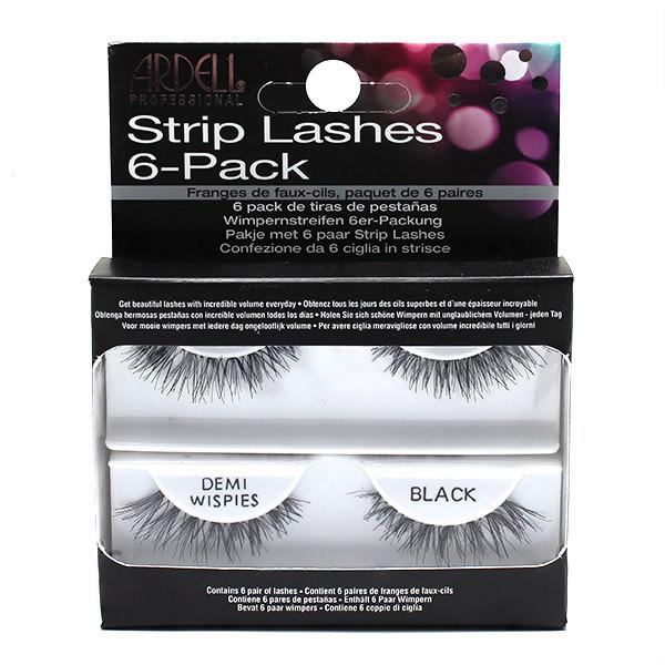 Ardell Professional Strip Lashes InvisiBand DEMI WISPIES 6 Pack Refills
