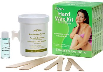 Andrea Hard Wax Kit for Face & Body