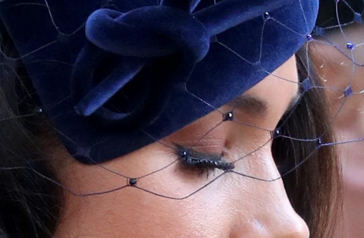 Some speculated that Meghan was wearing false lashes