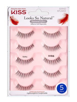 KISS Looks So Natural Multipack Lashes - Sultry (KFLM03)