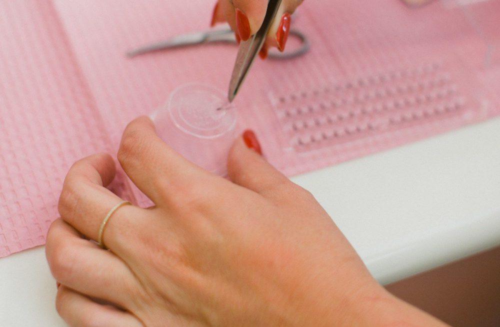 Step 2: Apply lash glue.