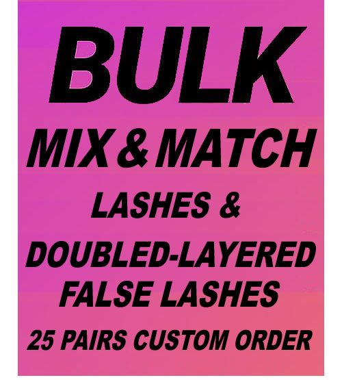 MODELROCK Lashes Custom Order 25 Pairs (Pick Your Styles #1)