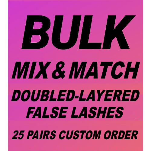 MODELROCK Double-Layered Lashes Custom Order 25 Pairs (Pick Your Styles #2)