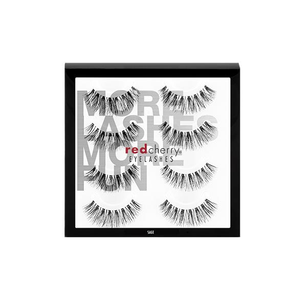 Red Cherry Lashes #523 (SAGE) - 4 PACK