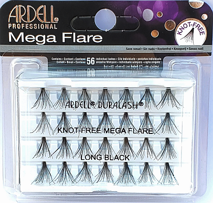 Ardell Mega Flare Individual Lashes Long Black