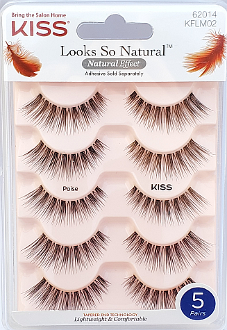 KISS Looks So Natural Multipack Lashes - Poise (KFLM02)