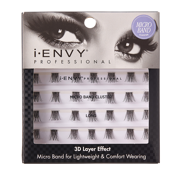 KISS i-ENVY Pro Microband Cluster Eyelashes - Long