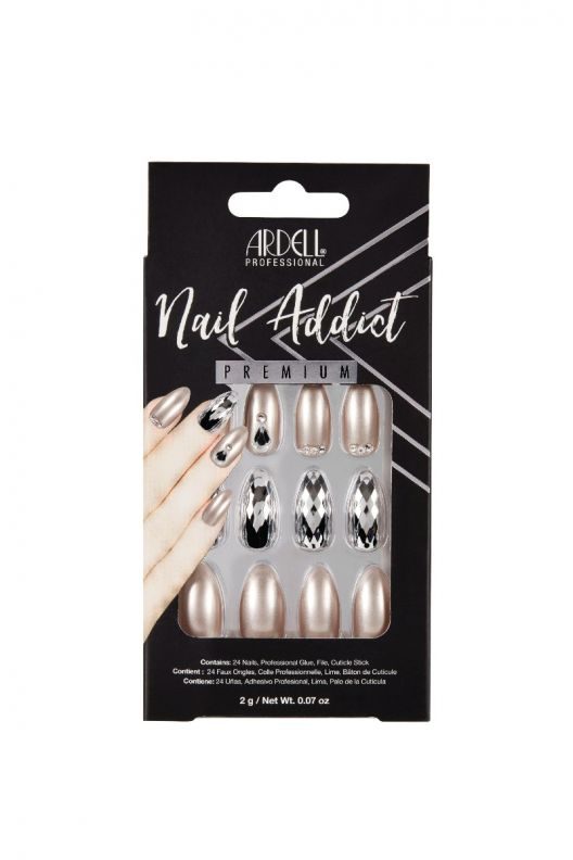 Ardell Nail Addict Premium Artificial Nail Set - Champagne Ice