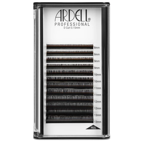 Ardell Professional Individual Lash Extensions (0.15mm) - D Curl, Assorted Multi-length, 8-13mm Pack